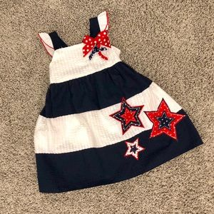 Sophie Rose patriotic dress with stars size 3/3T